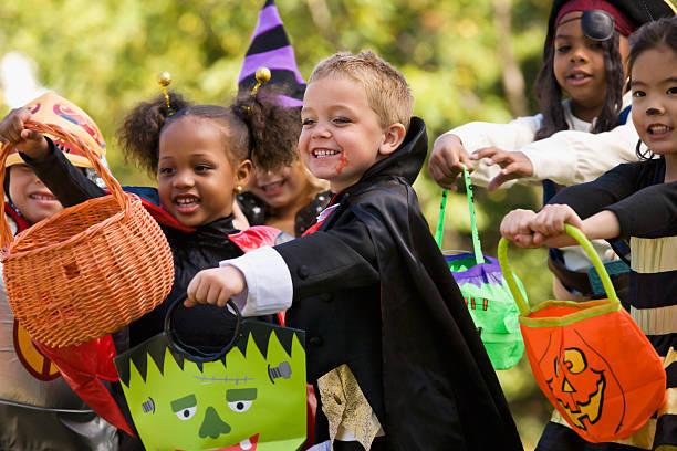 Multi-ethnic children dress...