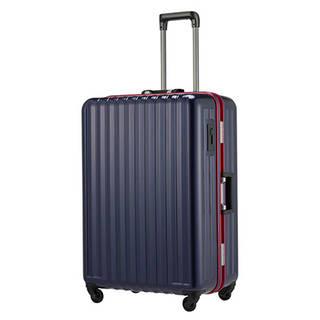 軽くて丈夫なフレームタイプのスーツケース。シンプルなが...