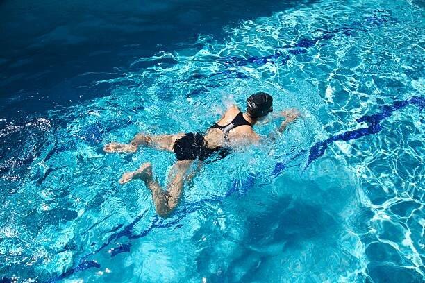 競争の水泳
