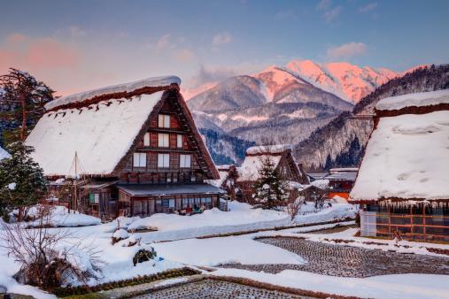 Winter rural landscape at s...