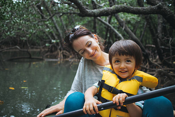 kayaking in mangrove forest