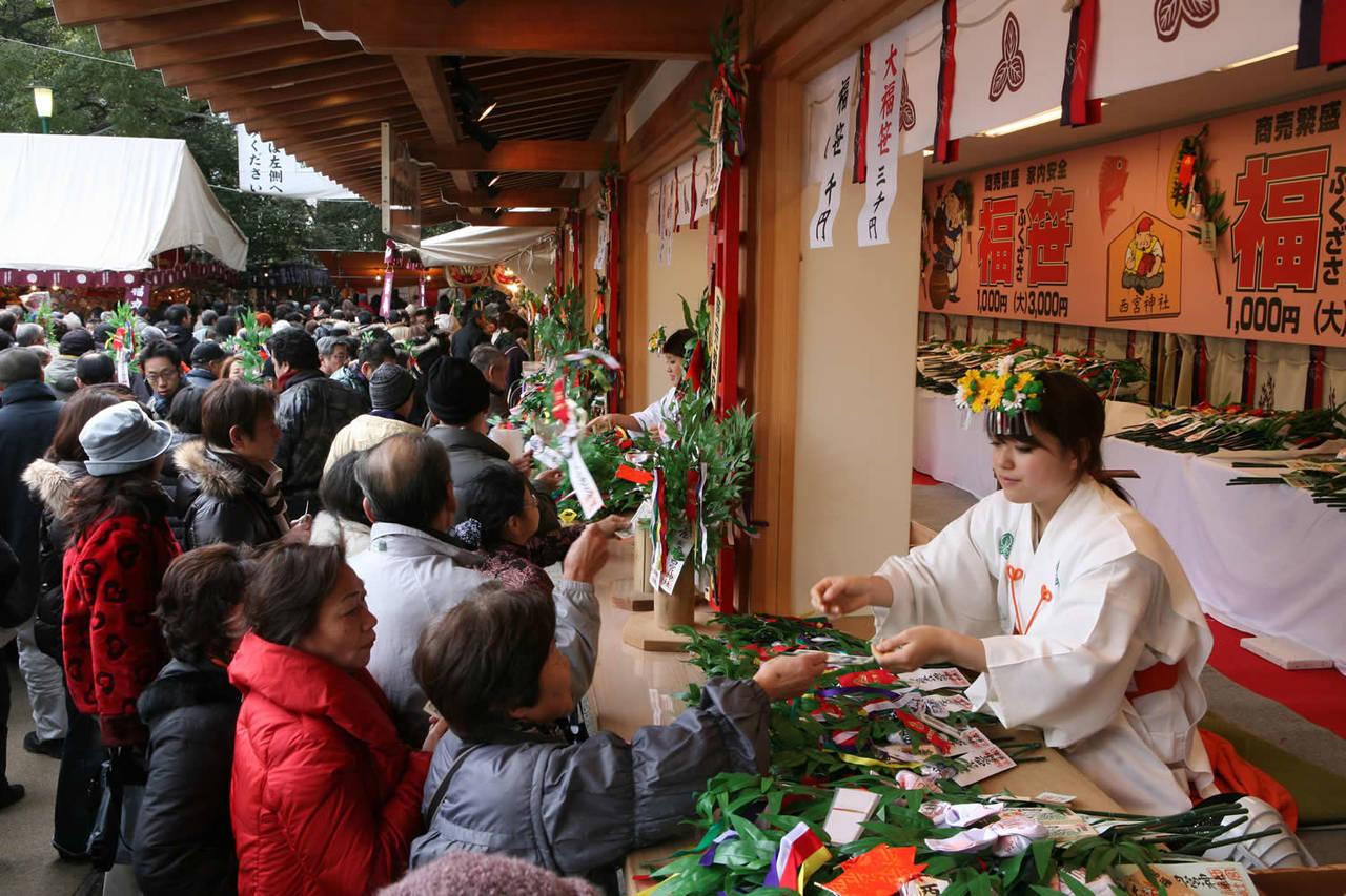 """1月に行きたい名物祭り""""西宮えびす"""""""