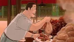 千尋のパパが食べているのは...まさに!