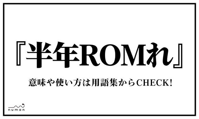 半年ROMれ(はんとしろむれ)