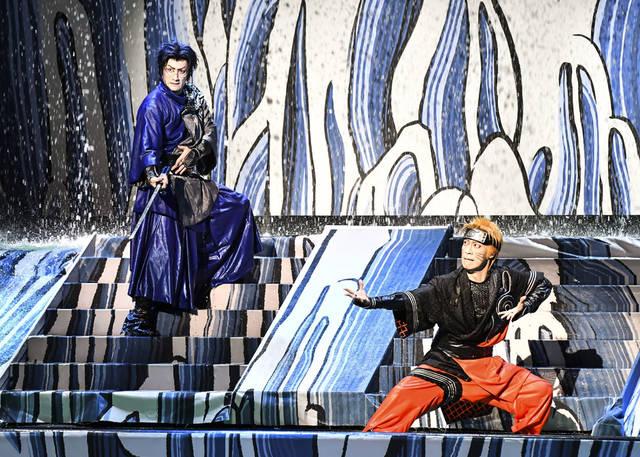 新作歌舞伎『NARUTO -ナルト-』舞台上に滝が出現!忍術に圧倒…!|見どころ&囲み取材レポート