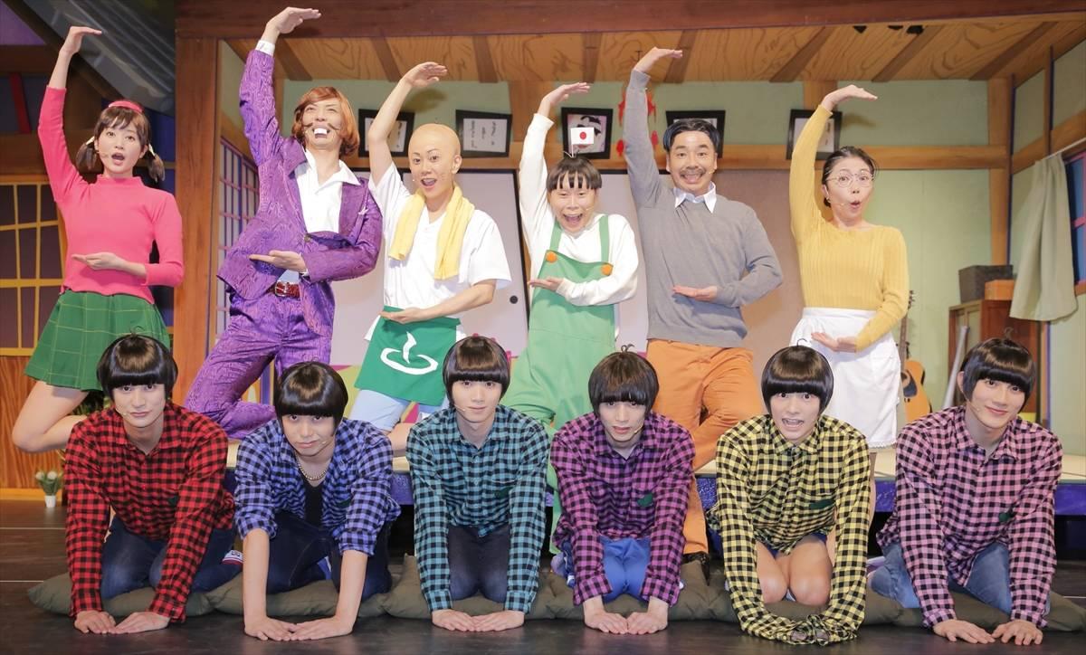 「柏木佑介の決め顔が腹立たしい(笑)」喜劇『おそ松さん』が開幕!|高崎翔太ら12名の囲み会見レポート