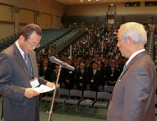 謝辞を述べる遠藤博美監査部長