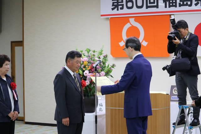 農業経営改善部門受賞の古川さん