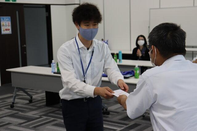 優秀賞に輝いた浪江支店 横田蓮さん