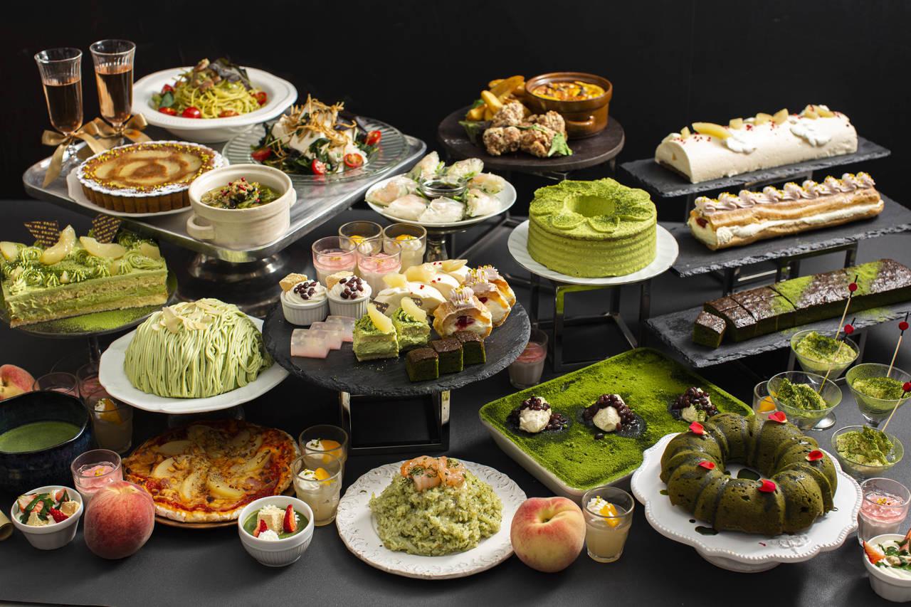 ビタースイーツ・ビュッフェ  7月1日より『桃と抹茶のスイーツフェア』開催