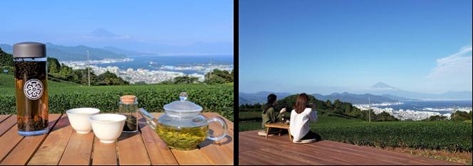 満足度100%!お茶畑の真ん中で淹れたてのお茶を楽しむ極上プラン茶の間 富士山と駿河湾を見渡す「全景の茶の間」・日本平 10月19日(土)よりオープン!