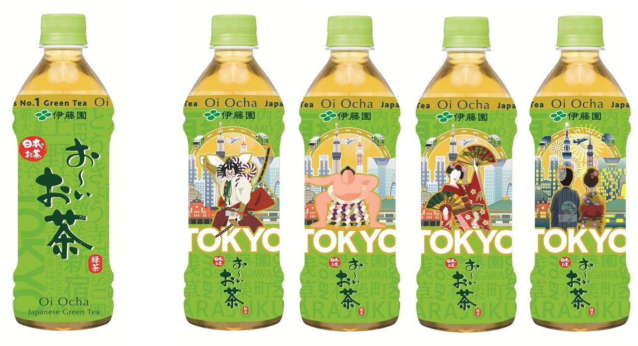 「お~いお茶」からTOKYOパッケージが新登場!東京(江戸)の伝統を象徴する「歌舞伎」「相撲」「日本舞踊」「花火」をデザイン。