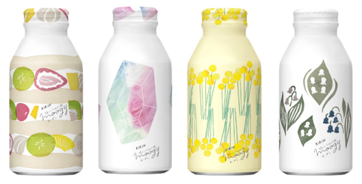 2020年春パッケージデザイン「キリン 生姜とハーブのぬくもり麦茶 moogy (ムーギー)はなうたシリーズ」をキングジムのマスキングテープ「KITTA(キッタ)」と初のコラボレーションで発売