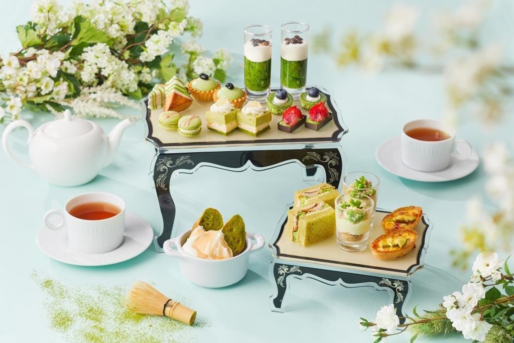 宇治や八女、西尾など、5種類のブランド抹茶を食べ比べ『抹茶 アフタヌーンティー』