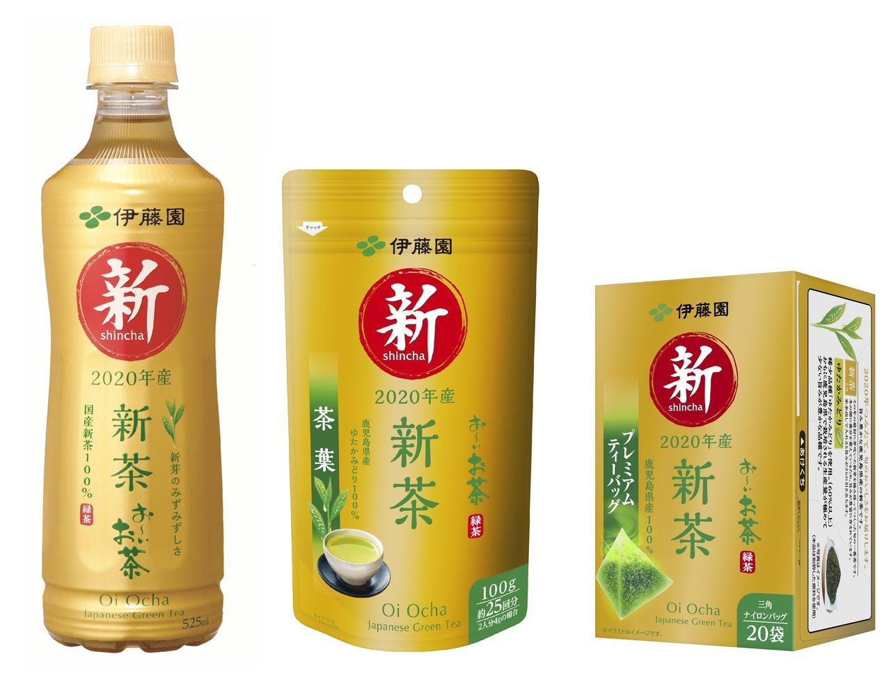 この時期『旬』の味わい!初摘みの新茶のみずみずしい旨み「お~いお茶 新茶(ドリンク製品、リーフ製品)」発売。