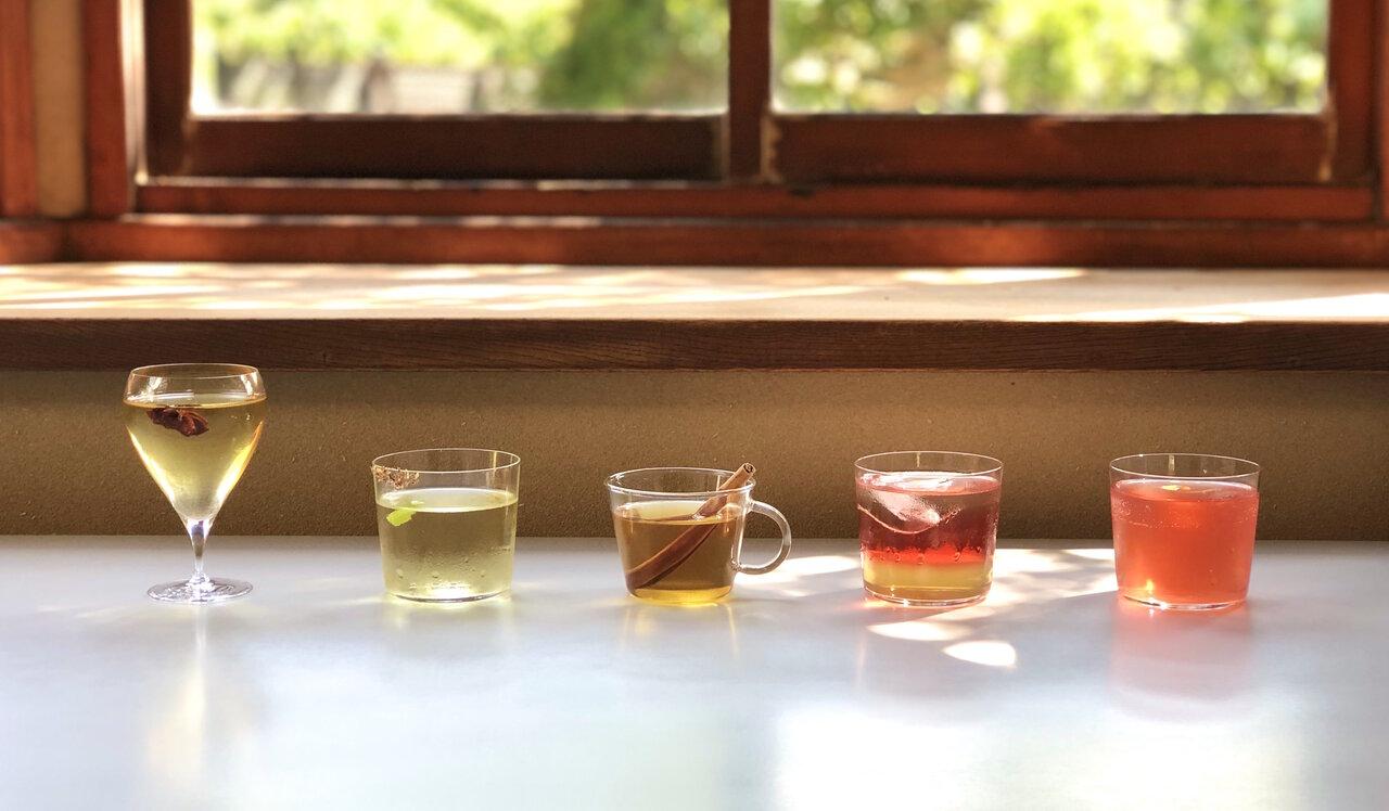 「ジャパニーズハーブティー 今古今」おうち飲みで、氣を巡らせてリラックス!日本の五行茶×お酒の「五行カクテル」レシピを公開