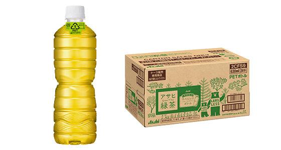 エコでラクなラベルレスボトルに「緑茶」新登場!!「アサヒ 緑茶」ラベルレスボトルPET630ml新発売