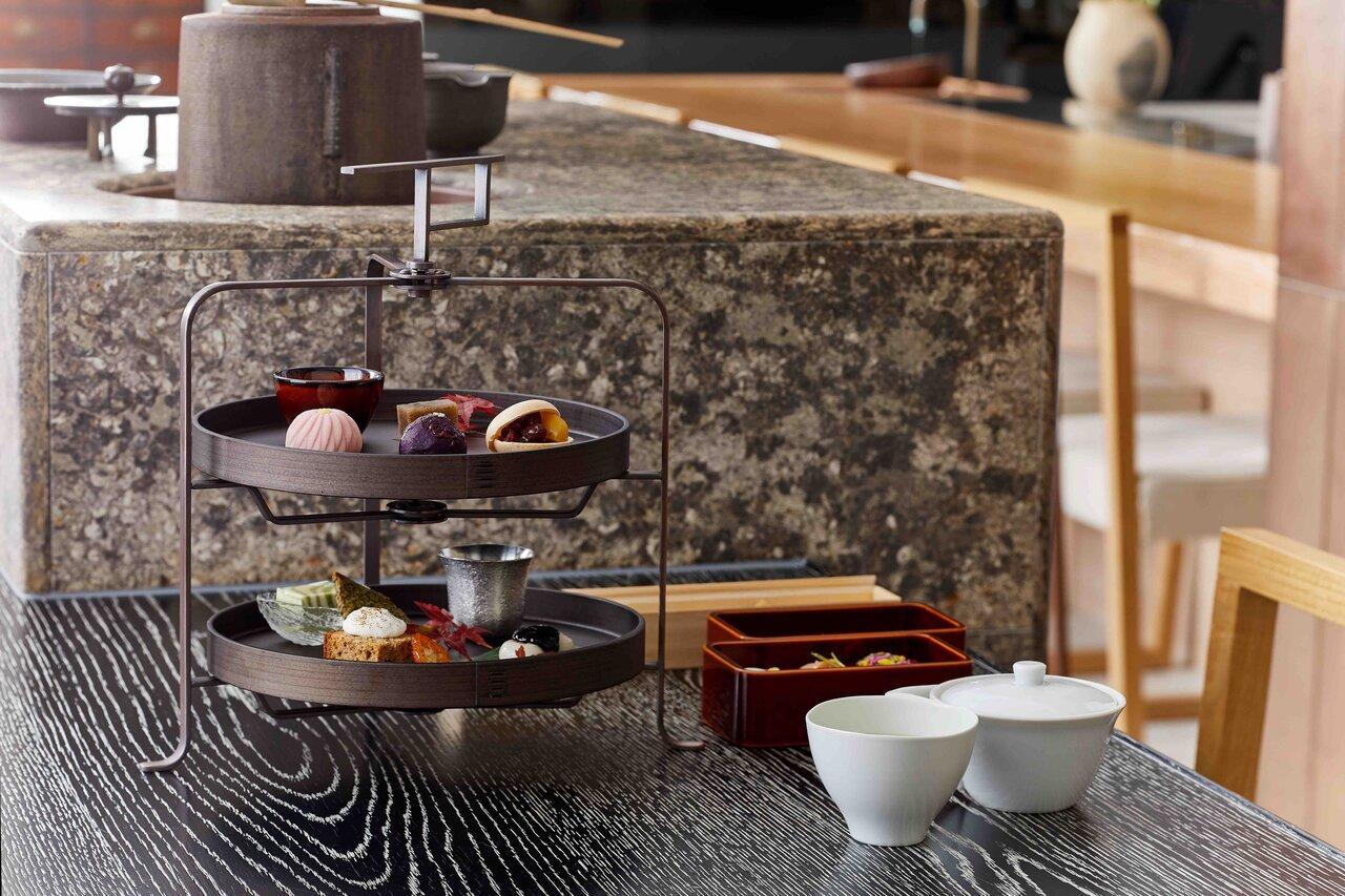 山本山 ふじヱ茶房、お茶と海苔づくしのアフタヌーンティー『茶菓講(ちゃかこう)』を提供開始