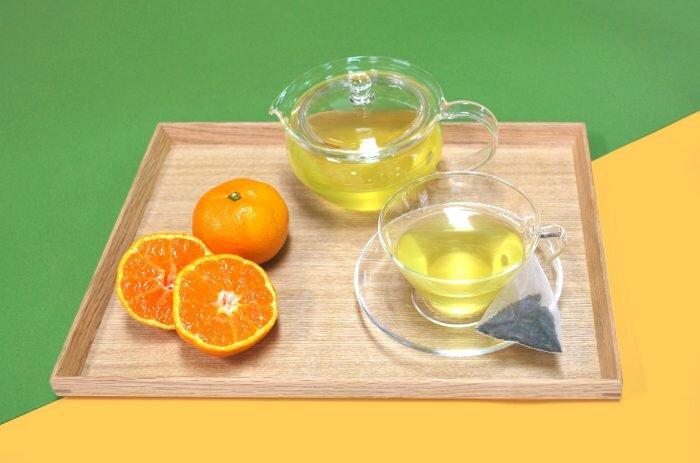 冷え性対策やリラックス効果も!京の老舗茶舗・福寿園より「みかん緑茶 ティーパック」発売中