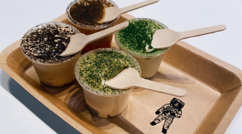 """パリの名店「Maison」渥美創太シェフとのコラボレーション「菓子と茶」の現代版茶屋『GEN GEN AN 幻』""""お茶に合う""""アイス4種セットが登場"""