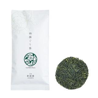 主に九州内で生産量が多いぐり茶(玉緑茶)新緑園のぐり茶...