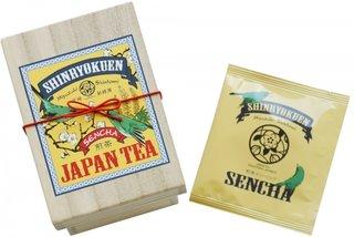 ミニ茶箱「空飛ぶお茶」急須で淹れたみたいに美味しい煎茶 (4373)