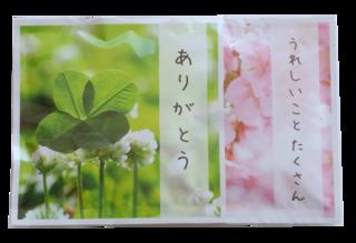 煎茶とほうじ茶2種類のセットです。桜と四つ葉のクロ...