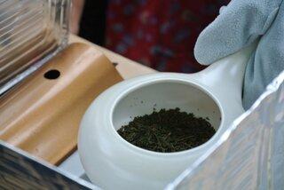 焙烙(ほうろく)を使ってオリジナルのほうじ茶作りができ...