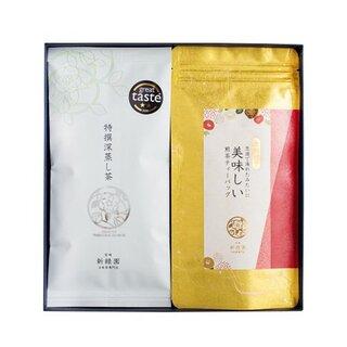 冬ギフト2(金粉TB・特撰深蒸し茶)|美味しい日本茶・緑茶のお取り寄せ・通販新緑園 (8497)