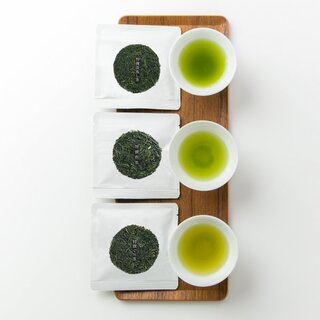 送料無料!おためしセット 【茶葉】(特撰煎茶、特撰ぐり茶、特撰深蒸し茶 各15g (10287)