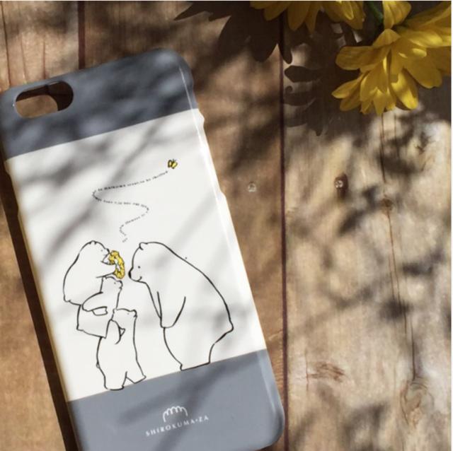 シロクマときいろい花冠 iPhone6/6sケース