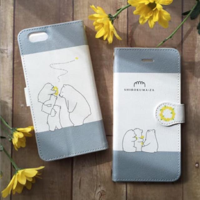 送料無料♪シロクマときいろい花冠iPhoneケース ¥...