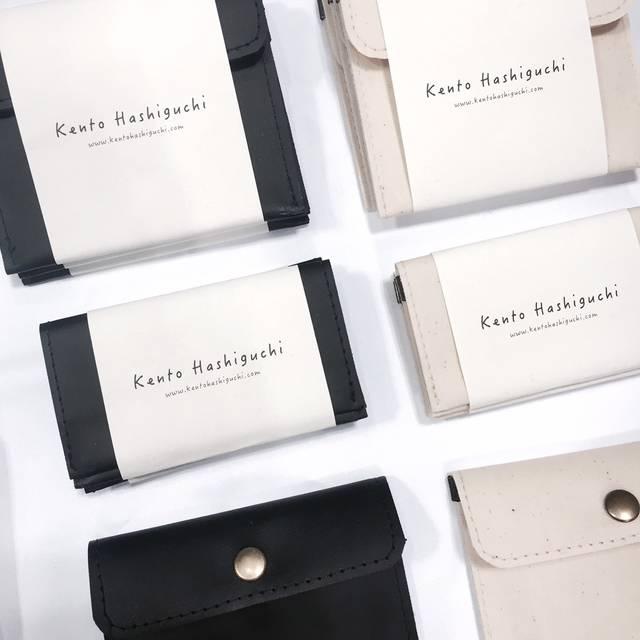 キャンバス生地の財布