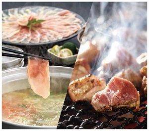 「みやざき地頭鶏」炭火焼&「かごしま黒さつま鶏」しゃぶ...