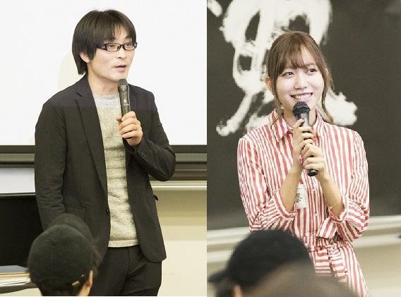 司会の音楽ジャーナリスト柴 那典さん(左)とシンガーソングライターの辻詩音さん(右)