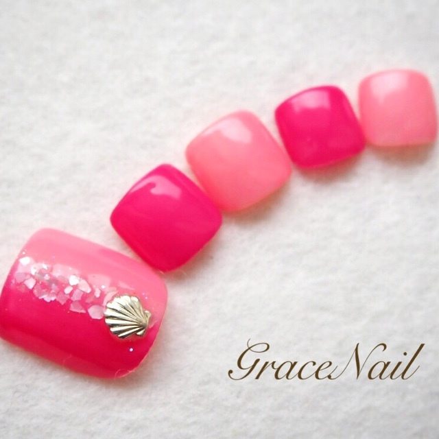 ピンクのバイカラー♡
