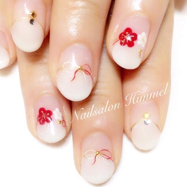 紅白の梅がかわいい!