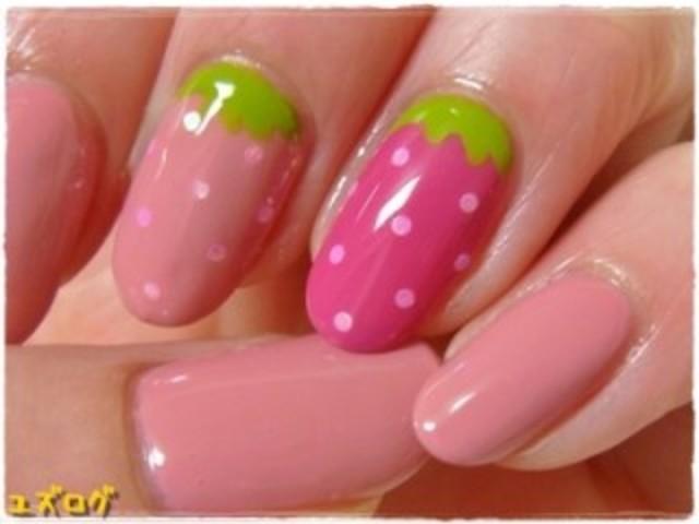 爪楊枝でも出来る!?可愛いイチゴちゃんネイル♡|CandyPot(キャンディポット) (5693)