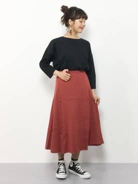 内山陽菜(ZOZOTOWN)|URBAN RESEARCH Sonny Labelのスカートを使ったコーディネート - WEAR (18823)