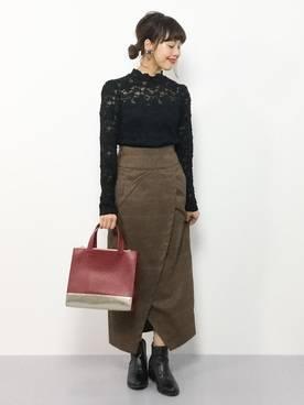 内山陽菜(ZOZOTOWN)|LOWRYS FARMのスカートを使ったコーディネート - WEAR (18830)