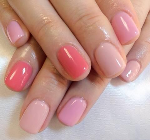 HAND ピンク系色違いネイル|鷺沼 ネイルサロン Nail Salon Ajourのブログ (19259)