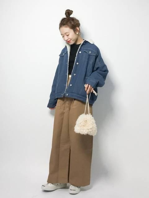 りっぴー(ZOZOTOWN)|merlotのデニムジャケットを使ったコーディネート - WEAR (19430)