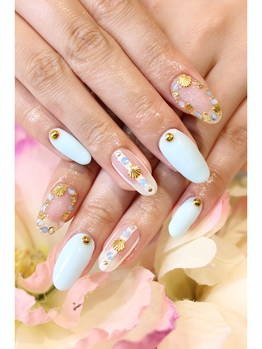 クリア囲みシェル|エーネイルサロン プラーカ店(A Nail Salon) (20270)