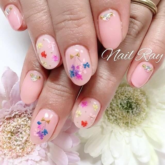 春/夏/女子会/ハンド/フラワー - nail_ray.kanaのネイルデザイン[No.2974924]|ネイルブック (20295)