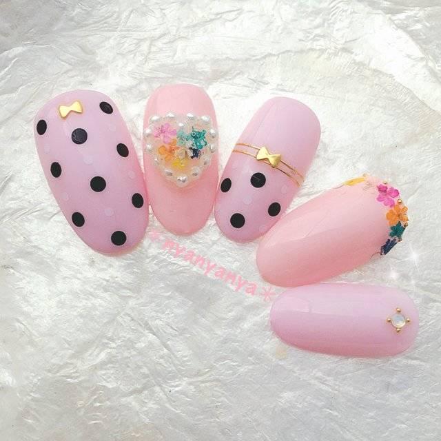 春/パーティー/デート/女子会/ハンド - nyanyanyaのネイルデザイン[No.2976284]|ネイルブック (20325)