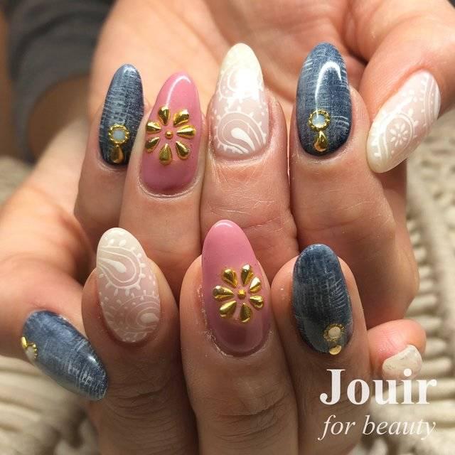 春/夏/海/ハンド/ボヘミアン - Jouir * Ayanoのネイルデザイン[No.2975274]|ネイルブック (20335)