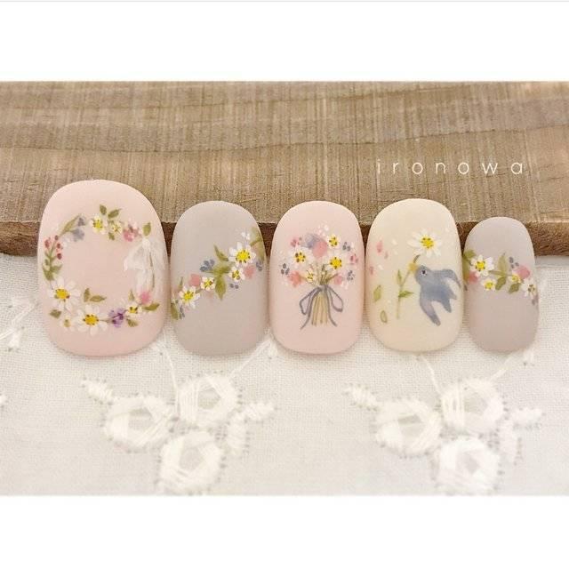 春/夏/ブライダル/パーティー/ハンド - ironowa.nailのネイルデザイン[No.3018339]|ネイルブック (20445)