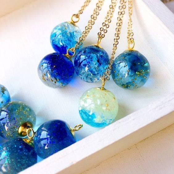 レジンのグラデーションネックレス   レジン   Pinterest   Resin Jewelry, Resin crafts and Uv resin (31277)