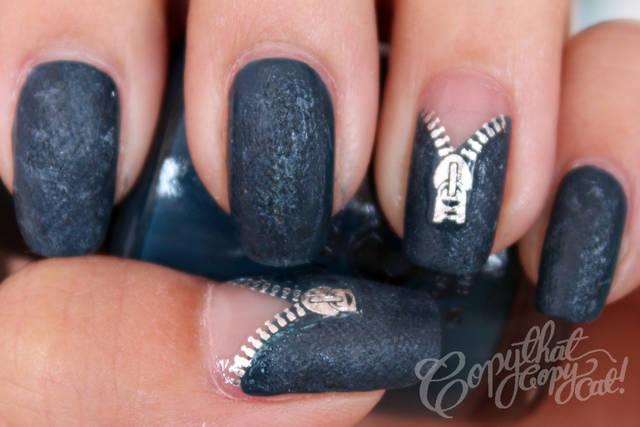 Copy That, Copy Cat: Denim Zipper Nails + Product Review from KKCenterHK (33379)