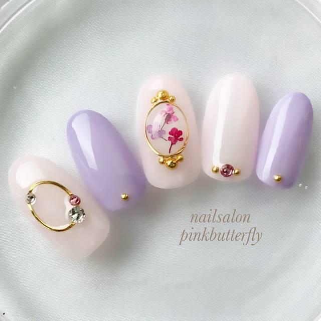 春/夏/デート/女子会/ハンド - pinkbutterflyのネイルデザイン[No.3059295]|ネイルブック (34693)